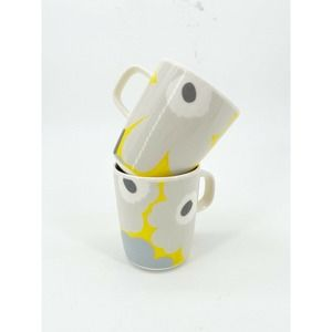 Marimekko Oiva Unikko Coffee Mug Pair